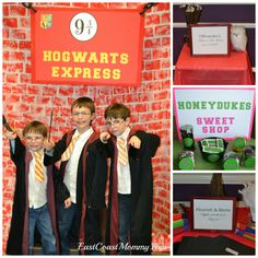 Harry Potter Party { DIY Signage} Low cost... high impact.  LOVE!