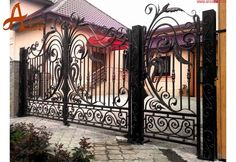 Iedera Salbatica Lux - Porti si Garduri din Fier Forjat ARCO TRUST Front Gate Design, Gates And Railings, Front Gates, Trust, Stairs, Home Decor, Front Doors, Stairway, Decoration Home