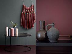 Le bon mix déco : rouge, rose et gris - Joli Place - Lilly is Love Interior Wall Colors, Room Paint Colors, Paint Colors For Home, Interior Design, Bedroom Red, Living Room Bedroom, Home Decor Bedroom, Living Room Decor, Red Room Decor