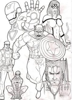 9 Best Avengers Coloring Pages images | Avengers coloring pages ...