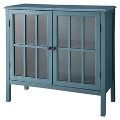 """Target : Windham Accent Cabinet Bookcase - Teal $119.99... Media room for the """"bar"""" area."""