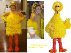 Shenaniganska: Halloween '13 - BIG BIRD from SESAME STREET costume (tutorial)