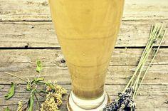 refrigerante kefir com flores