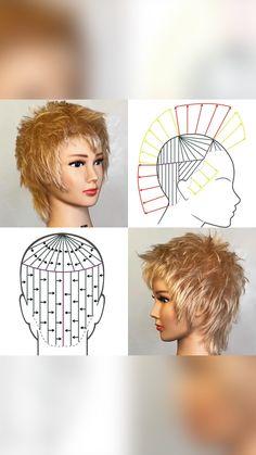 Hair Cutting Videos, Hair Cutting Techniques, Short Layered Haircuts, Short Hair Cuts, Short Hair Styles, Wig Hairstyles, Wedding Hairstyles, Hair Extensions Tutorial, I Like Your Hair