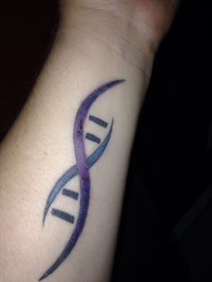 Touch up on my DNA tattoo for Huntington's Disease! Satanic Tattoos, Hd Tattoos, Dna Tattoo, Small Tattoo Designs, Small Tattoos, Dna Drawing, Huntington Disease, Dna Project, Sibling Tattoos