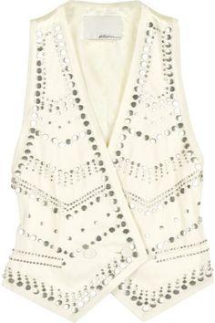 3.1 PHILLIP LIM | Wool-blend studded vest ($450)