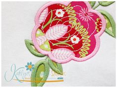 Flower 1 Applique| SWAK Embroidery    Katelyn's Kreative Stitches