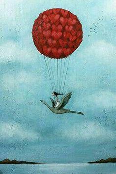 O amor nos faz voar....