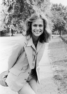Lauren Hutton, blazer, hat, jeans
