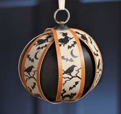 "2012 Halloween Ornament-12424  This ornament is 5th in the series of 12 monthly ornaments. If you're just starting your collection, see your Home Consultant or go to Past Features to see past month's ornaments. 5""d x 4 1/2""h  http://www.longaberger.com/avaandrews"
