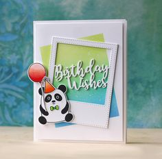 "Panda birthday wishes card with Laura Bassen using the new ""My Favorite"" release from Simon Says Stamp."
