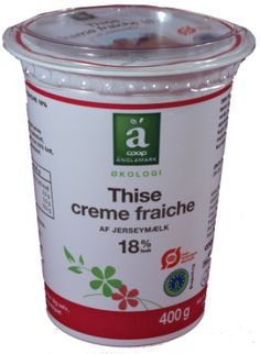 Trend Creme Fr iche from the danish dairy Thise made with milk from Jersey cows Lovely