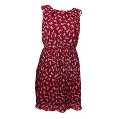 Cat Print Dress Red, 20€, now featured on Fab.