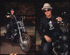 As if he couldn't get any sexier...let's throw a MOTORCYCLE in there! Gah!!! ::drool::