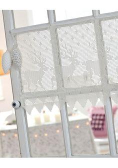 Virkattu pitsiverho SK 11-12/12. Curtains, Home Decor, Blinds, Decoration Home, Room Decor, Draping, Home Interior Design, Picture Window Treatments, Home Decoration