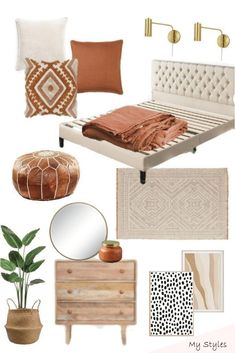 Master bedroom inspiration with fall colors grace gathered home / gorgeous boho master bedroom decor with modern famrhouse decor and style. Loving the Home Decor Bedroom, Modern Bedroom, Bedroom Colors, Moroccan Bedroom Decor, Ikea Bedroom, Moroccan Inspired Bedroom, Modern Moroccan Decor, Bedroom Furniture, Neutral Bedroom Decor