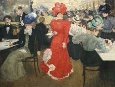 In the Café d´Harcourt in Paris 1897 Henri Evenepoel