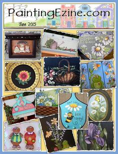 Painting Ezine June 2015 Issue Drawings To Trace, Bee Happy, Paint Shop, Painting Patterns, Color Mixing, June, Projects, Log Projects, Blue Prints