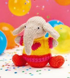 Elvis The Elephant Free Animal Toy Knitting Pattern Knitting For Kids, Free Knitting, Baby Knitting, Free Crochet, Knitting Toys, Knitting Ideas, Animal Knitting Patterns, Crochet Patterns, Knitted Animals