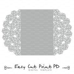 Wedding invitation Pattern Card 5x7 Template от EasyCutPrintPD