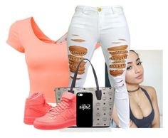 """""""Beauty"""" by f0rever-d ❤ liked on Polyvore featuring LE3NO, MCM, NIKE and Casetify"""