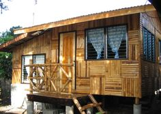 Beautiful Bamboo Home Design Great Bamboo House Amazing Bamboo Bamboo House Design, Small House Design, Bahay Kubo Design, Building A Small House, Rent To Own Homes, Bamboo Building, Bamboo Architecture, Sustainable Architecture, Design Exterior