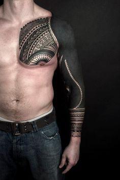 Solid Black Tattoo Solid Black Arm Tattoo