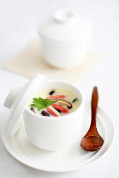 https://flic.kr/p/882rx3 | Chawanmushi 茶碗蒸し | japanese steamed egg with shiitake & surimi crabsticks.   blogged : bossacafez.blogspot.com/2010/06/chawanmushi.html