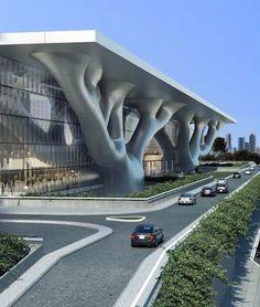 http://www.designboom.com/architecture/arata-isozaki-qatar-convention-center/