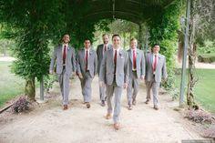Geoff and Christina's Wedding in Santa Rosa, California Groom Ties, Groom And Groomsmen Attire, Grey Tuxedo, Tuxedo For Men, Wedding Poses, Wedding Groom, Be My Groomsman, Groom Accessories, Well Dressed Men