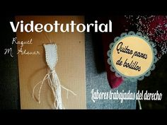 Bolillotutorial Adsuar: Quitar pares de bolillos en labores trabajadas del derecho - YouTube