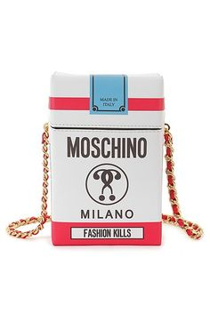 Moschino 'Fashion Kills' Crossbody Bag available at #Nordstrom