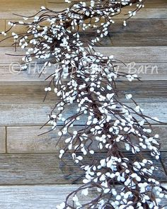 White Berry Garland, White Pip Berries, Wedding Garland, White Berry Swag, Spring Garland, White Gar White Garland, Berry Garland, Garland Wedding, Wedding Centerpieces, Baskets On Wall, How To Make Wreaths, House Colors, Staging, Fork