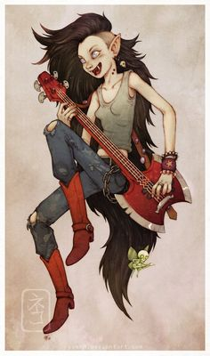 Marceline the Vampire Queen by yvash on deviantART
