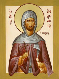 St Anastasios the Persian www.ikonographics.net