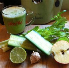 Just lately I have made the leap from the safe and reliable Carrot, Apple & Ginger, to trying more green contents in my morning juice fest. One of my yoga pals had been urging me to do it for a...