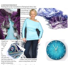 A fashion look from November 2014 featuring beaded bangles, pure silk scarves and battery powered clock. Browse and shop related looks. Blue Style, Blue Fashion, Outdoor Blanket, Shoe Bag, Purple, Polyvore, Stuff To Buy, Collection, Design