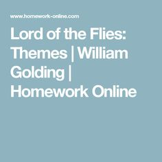 sparknotes lord of the flies themes motifs symbols lord of lord of the flies themes william golding homework online