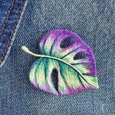 New Ideas embroidery patches ideas - Embroidery inspiration - Hand Embroidery Stitches, Embroidery Patches, Modern Embroidery, Embroidery Hoop Art, Crewel Embroidery, Embroidery Techniques, Ribbon Embroidery, Machine Embroidery, Embroidery Designs