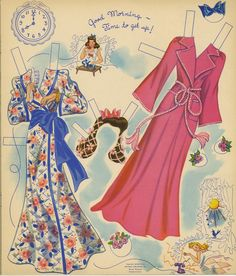 morning wear for vintage paper dolls