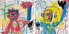 Untitled (Diptych) by Jean-Michel Basquiat on Widewalls. Browse more artworks by Jean-Michel Basquiat and auction records with prices and details of each sale! Jean Michel Basquiat, Jm Basquiat, Pablo Picasso, Bad Painting, Fondation Louis Vuitton, Sgraffito, Robert Rauschenberg, Keith Haring, Andy Warhol