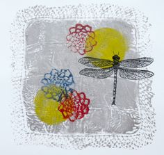 Handkerchief with Dragon Fly - Deborah Landry. My art is influenced by nature, although flora and fauna is reflected in much on my art I am heavily inspired by other aspects of nature like wind, skyscapes, reflections and shadows.