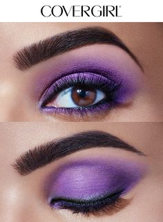 Create the Purple Glam look using COVERGIRL'S TruNaked Jewels Palette this holiday season! This royal purple look is simple to create and perfect for any Christmas or Hanukkah party this winter. Complete this look with So Lashy! Mascara and Intensify Me! Liner.