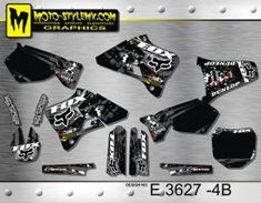Yamaha YZ 125 - 250 '96-'01 Moto-StyleMX graphics decals kits Yamaha Yz 125, Motocross, Decals, Bike, Graphics, Motorbikes, Bicycle, Tags, Graphic Design