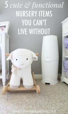5 Cute & Functional Nursery Items You Can't Live Without. The absolute must-haves for your baby's nursery. Gray and lavender nursery inspiration.