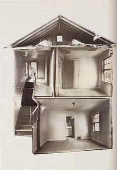 Splitting, 1974. Black and white photo collage, 101.5 x 76.2 cm.