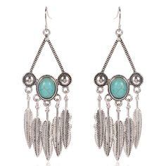 Boho Gypsy Feather Earrings