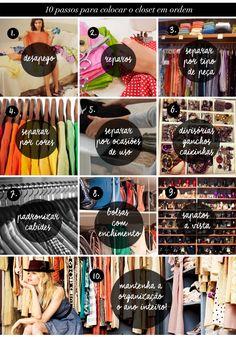 10 dicas para colocar o closet em ordem! - Estilo Meu