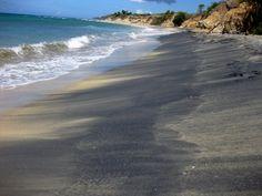 Black Sand Beach in Vieques, Puerto Rico
