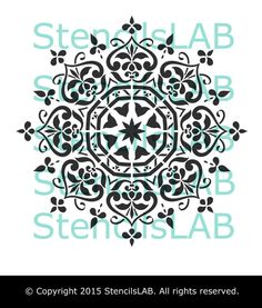 Mandala Style Stencil Furniture Stencil Wall por StencilsLabNY